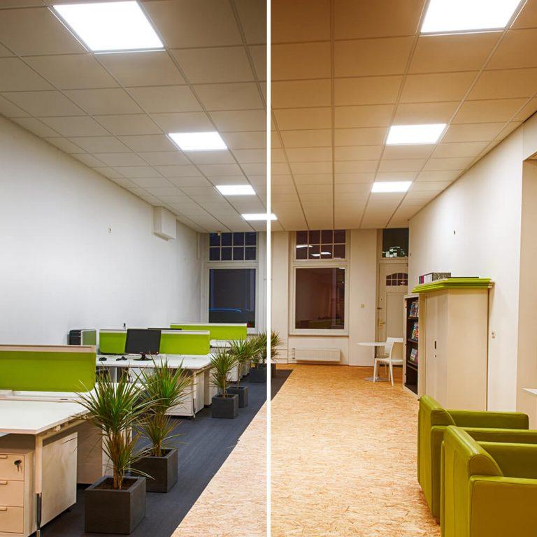 LED panelen met een verschillende tint