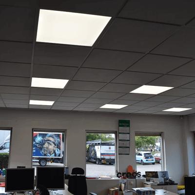 Faber Exposize - Polaroid led panelen in het kantoor