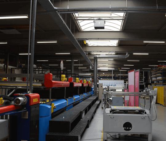 Faber Exposize - verlichting in productiehal