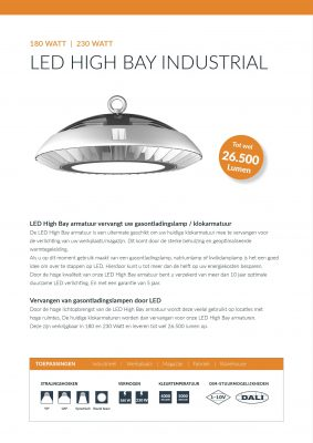Specificaties LED Highbay QueLED