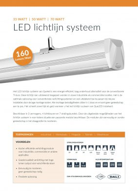 Specificaties LED Lichtlijn Systeem QueLED