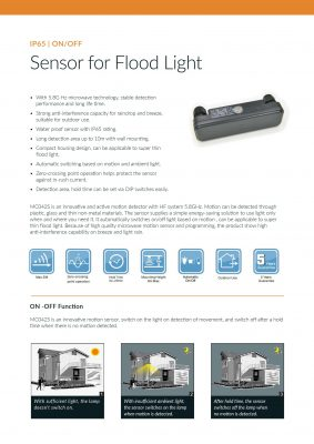 Specificaties Floodlight Sensor