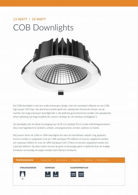 QueLED Datasheet COB Downlights